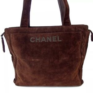 Auth CHANEL Coco Mark Leather Shoulder Bag